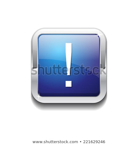 Alertar assinar azul praça botão ícone Foto stock © rizwanali3d