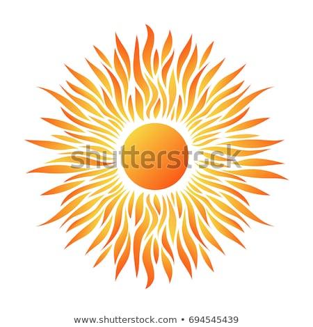 Sun Poster With Beams Stock photo © adamson