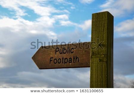 Public footpath Stock photo © Hofmeester