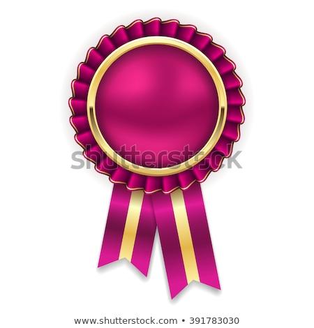 Gecertificeerd paars vector icon ontwerp digitale Stockfoto © rizwanali3d
