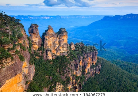 view of the three sisters in the blue mountains australia stock photo © lucielang