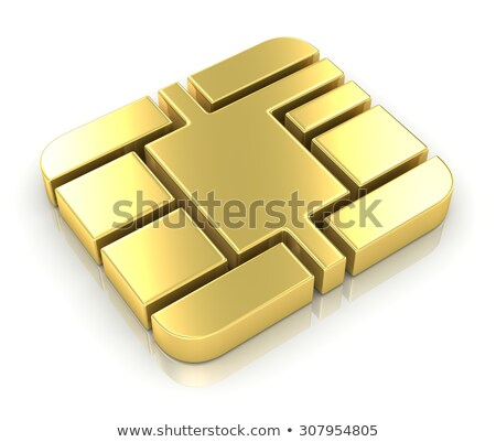 gold credit card macro 3d render stock photo © daboost