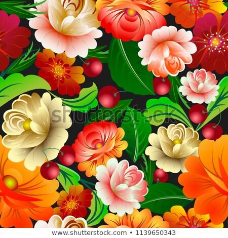 Foto colorato modello di fiore foto business Foto d'archivio © konradbak