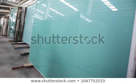 Beyaz pvc pencere cam ev Stok fotoğraf © dicogm