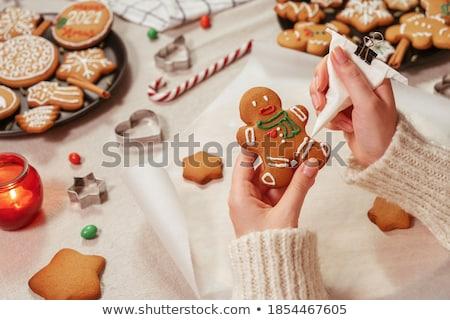 cookies · witte · schotel · chocolade · achtergrond - stockfoto © nailiaschwarz