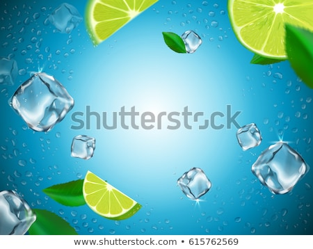 Glass of water with three ice cubes Stock photo © ShawnHempel