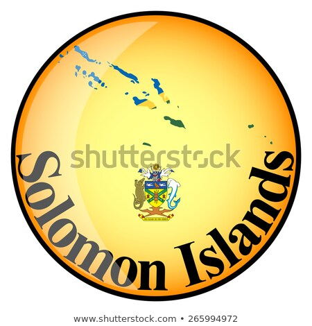 orange button with the image maps of Solomon Islands Stock photo © mayboro