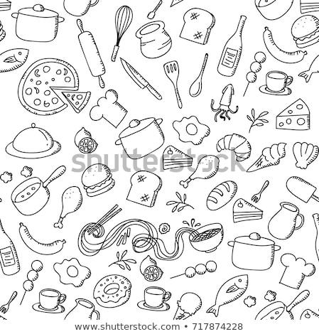 Pizza spade witte voedsel Stockfoto © ozaiachin