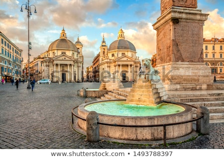 Lion fountain in Piazza del Popolo  Stock photo © vladacanon