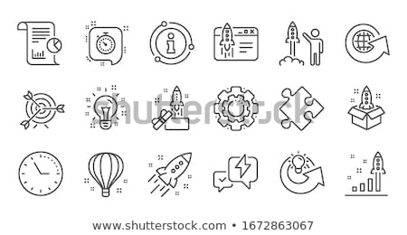 Project Startup Flat Design Icon Stock photo © WaD