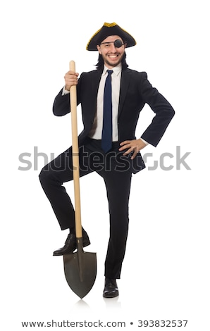 Young businessman holding a spade isolated on white Stock photo © Elnur