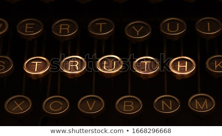 Image of old typewriter keyboard with scratched chrome keys that form '2016'. Lighting and focus are Stock photo © 3mc