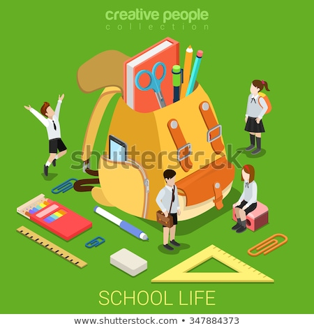 3d · человек · большой · книга · школы · сумку · белый - Сток-фото © nithin_abraham