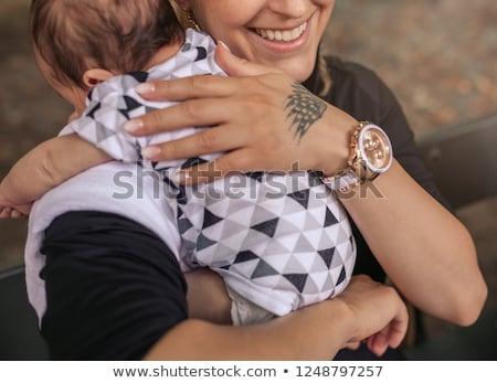 bebê · belo · caucasiano · hispânico · mãe - foto stock © alphababy