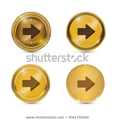 Right Key Circular Vector Gold Web Icon Button Stock photo © rizwanali3d