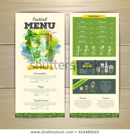 Cocktail menu template Stock photo © netkov1