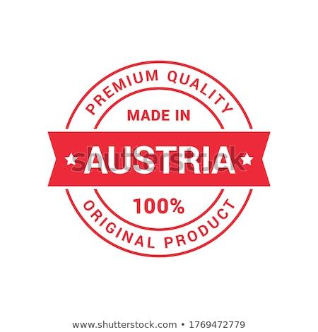 Сток-фото: Австрия · стране · флаг · карта · форма · текста