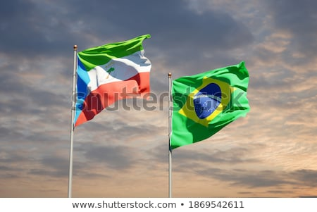 Brazil and Equatorial Guinea Flags Stock photo © Istanbul2009