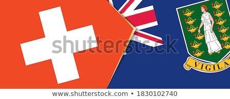 Zwitserland Virgin Islands brits vlaggen puzzel geïsoleerd Stockfoto © Istanbul2009