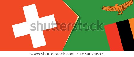 Switzerland and Zambia Flags Stock photo © Istanbul2009