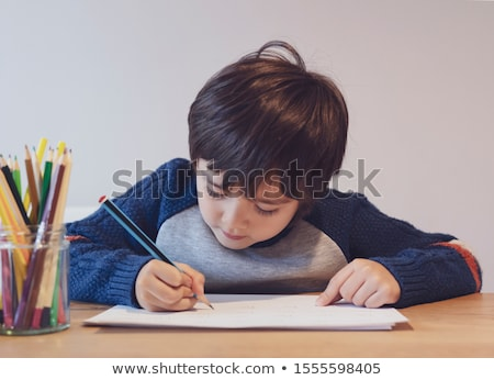 Drawing boy in kindergarten Stock photo © Paha_L