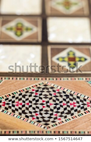 Luxury wooden case with inlaid boxes Stock photo © Paha_L