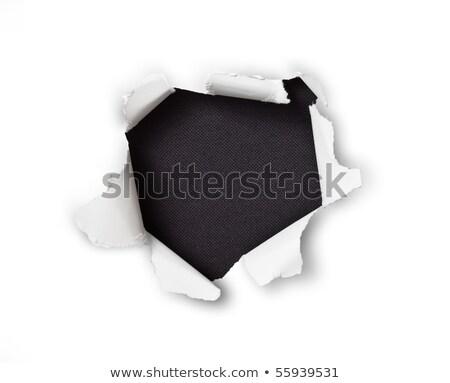 vel · papier · gat · zwarte · abstract · gebroken - stockfoto © Paha_L