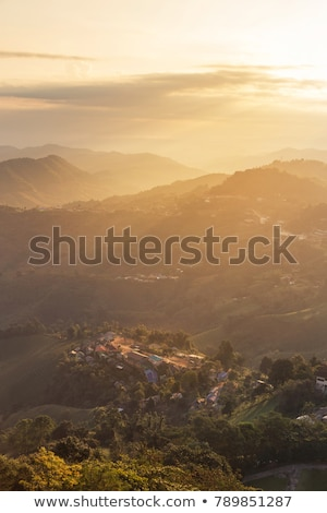 Morning in a mountain village  Stock photo © Kotenko