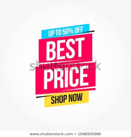 Etiqueta mejor precio ilustración blanco fondo signo Foto stock © get4net