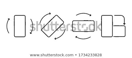 Forgat okostelefon ikon technológia kapcsolat képernyő Stock fotó © kiddaikiddee