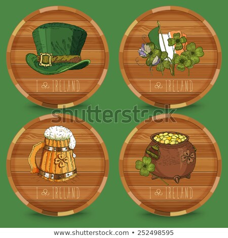 Stock photo: St.Patrick's day beer coaster