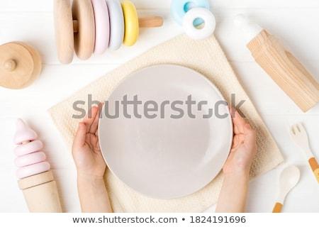 buzdolabı · mıknatıslar · mektup · ahşap · çocuk - stok fotoğraf © fotografiche