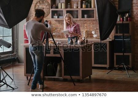 jóvenes · femenino · modelo · masculina · fotógrafo - foto stock © zurijeta