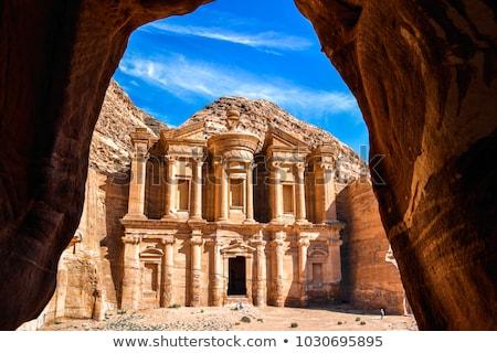 Jordanië schatkist gebouw textuur reizen architectuur Stockfoto © zurijeta