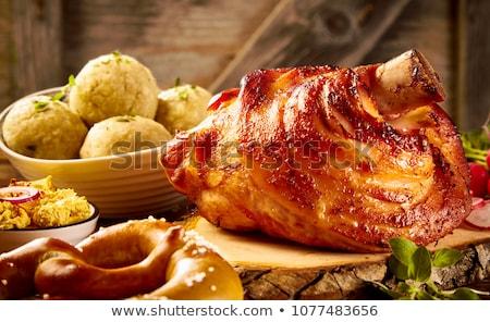 Carne de porco vermelho pimenta salada Foto stock © Digifoodstock