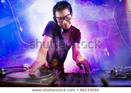 Kadın erkek parti hosting kalabalık disko Stok fotoğraf © elaine