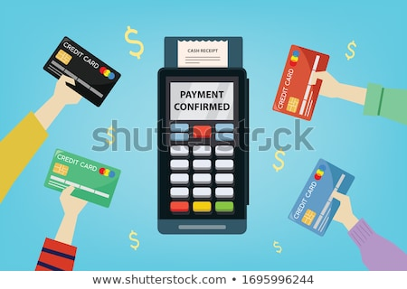 on-line · pagamento · moderno · linha · projeto · estilo - foto stock © davidarts