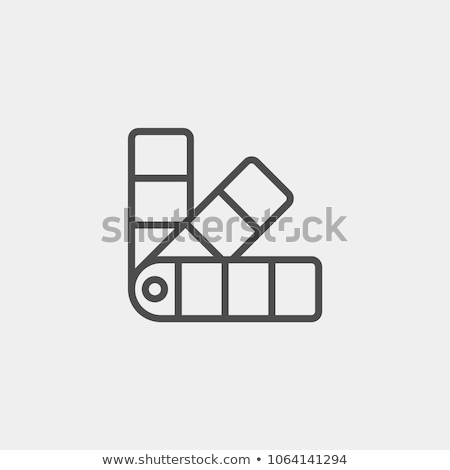 Color samples icon Stock photo © angelp