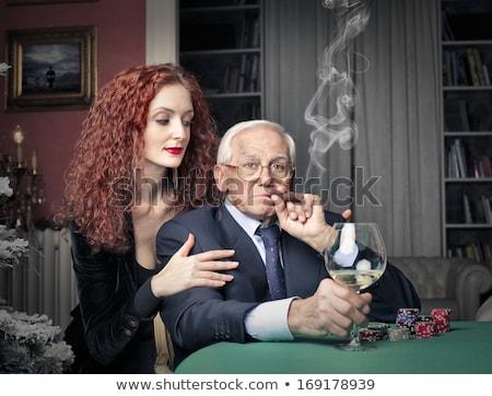 женщину богатых старик иллюстрация деньги человека Сток-фото © bluering