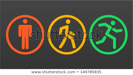 running icon in three designs stock photo © bluering