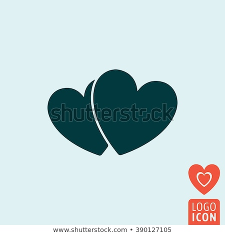 simple vector illustration of a two hearts icons stock photo © kurkalukas