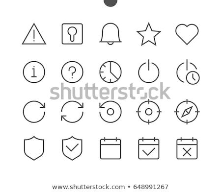 Altı imi simgeler örnek gölge dizayn Stok fotoğraf © nickylarson974
