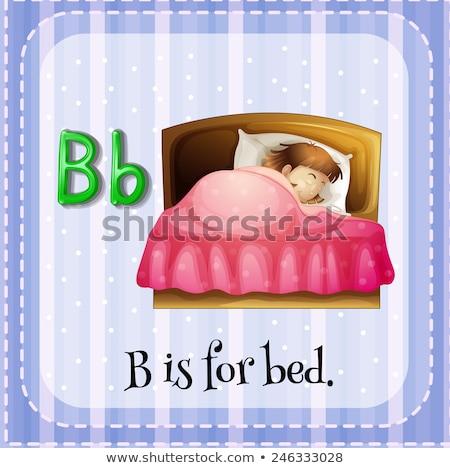 hombre · sueno · cama · sueno · noche · dormitorio - foto stock © bluering