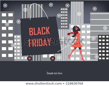 Black Friday shopping sign : fashion stylish Icon Stock photo © lordalea