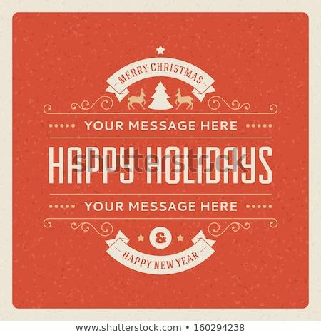 Сток-фото: Holidays Greeting And Christmas Card Eps 10