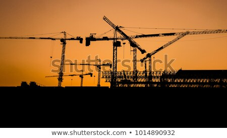 Tower crane in sunset Stock photo © 5xinc