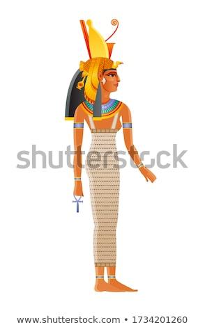 Királynő Egyiptom illusztráció naplemente utazás arany Stock fotó © adrenalina