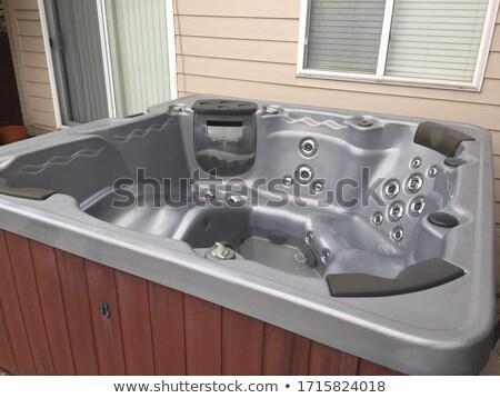 Vuota vasca idromassaggio dettaglio spazio rilassante atmosfera Foto d'archivio © nito