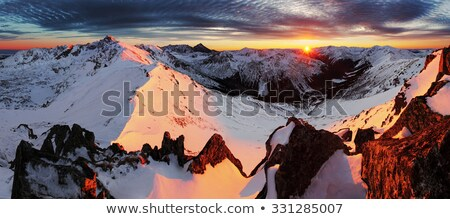 view on sunset at winter mountains tatry poland stock photo © massonforstock