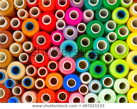 lot of colored thread spools stock photo © mikko
